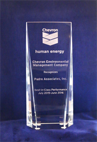 2015 Chevron Environmental Management Company Award