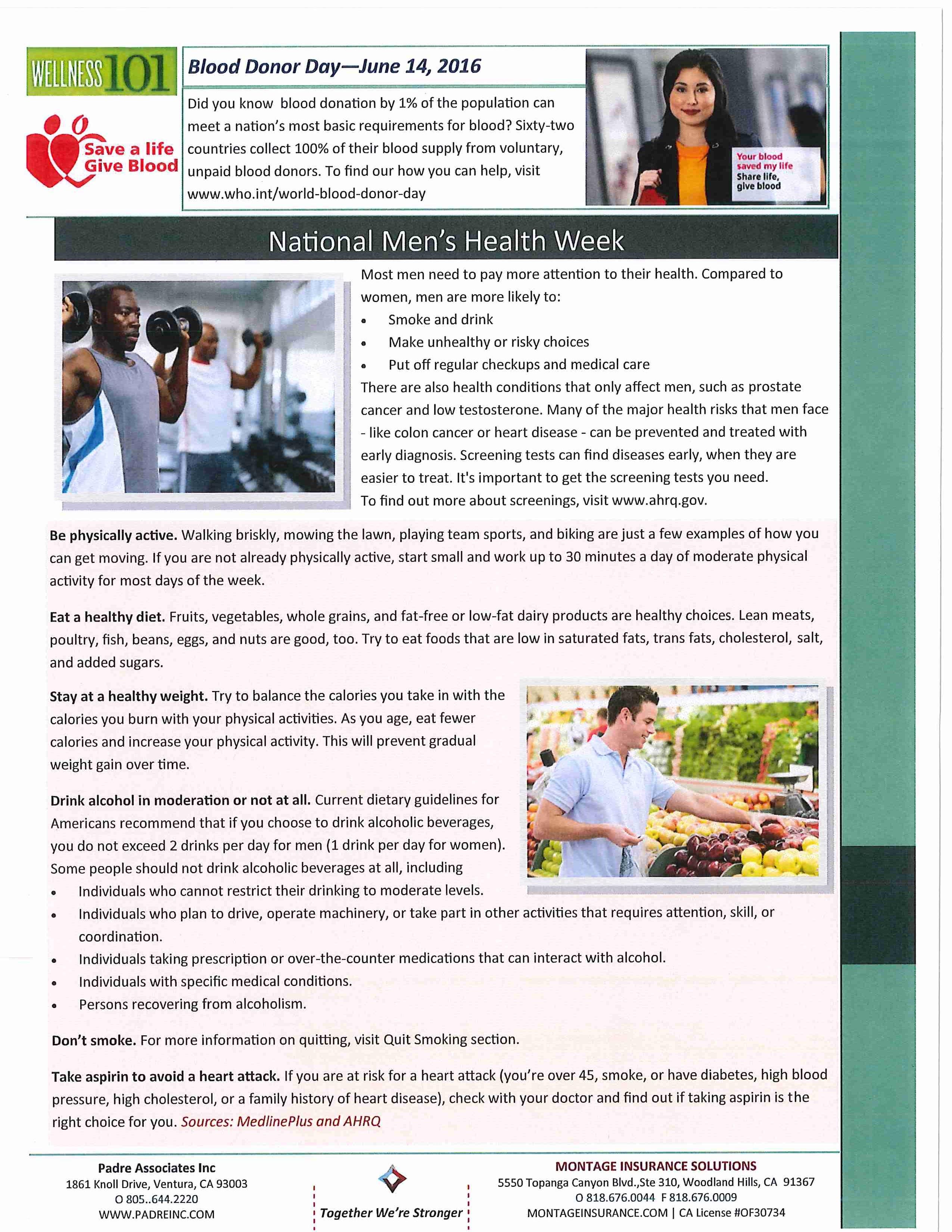 health and wellness june 2016   padre associates, inc   engineers