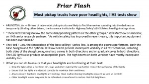 FF 12-7-16 Truck with bad Headlights