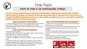 FF 3-1-17 Steps To Take If An Earthquake Strikes